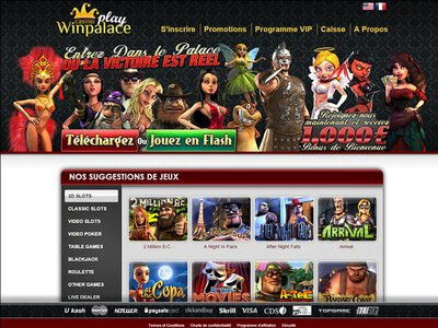 Winpalace Play Casino site captures d