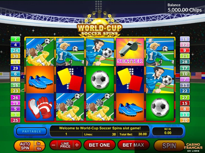 World Cup Soccer Spins