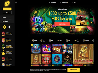 Zet Casino site captures d